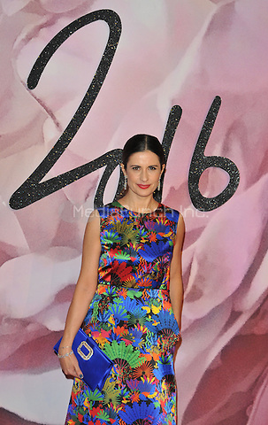 Livia Giuggioli (  Firth ) at the Fashion Awards 2016, Royal Albert Hall, Kensington Gore, London, England, UK, on Monday 05 December 2016. <br /> CAP/CAN<br /> ©CAN/Capital Pictures /MediaPunch ***NORTH AND SOUTH AMERICAS ONLY***