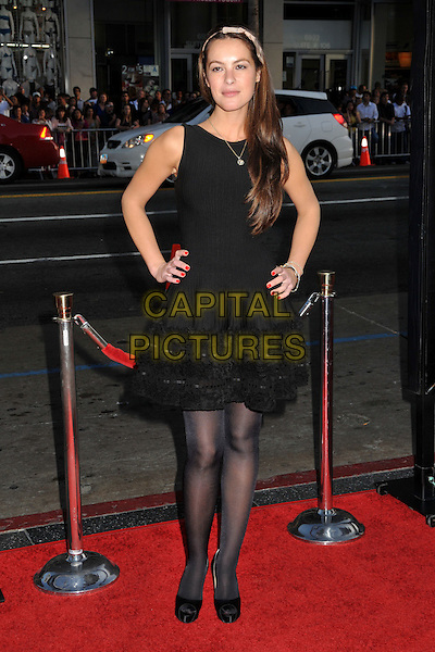 """SASHA BARRESE.""""The Hangover"""" Los Angeles Premiere held at Grauman's Chinese Theatre, Hollywood, CA, USA..June 2nd, 2009.full length black tights sleeveless dress hands on hips .CAP/ADM/BP.©Byron Purvis/AdMedia/Capital Pictures."""