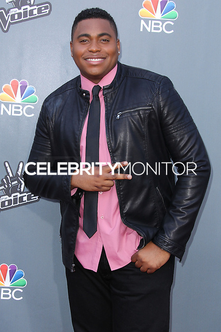 "UNIVERSAL CITY, CA, USA - APRIL 15: T.J. Wilkins at NBC's ""The Voice"" Season 6 Top 12 Red Carpet Event held at Universal CityWalk on April 15, 2014 in Universal City, California, United States. (Photo by Xavier Collin/Celebrity Monitor)"