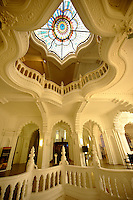 The interior of the Art Nouveau Museum of Applied Arts . Budapest Hungary