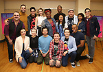"""The full company during the """"Be More Chill"""" Press Preview Presentation at Pearl Studios on January 23, 2019 in New York City."""