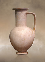 """Minoan stone ewer jug from the  Knossos-Isopata """"Royal Tomb"""" 1600-1500 BC BC, Heraklion Archaeological  Museum."""