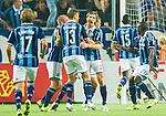 Stockholm 2015-08-24 Fotboll Allsvenskan Djurg&aring;rdens IF - Hammarby IF :  <br /> Djurg&aring;rdens Jesper Arvidsson firar sitt 1-1 m&aring;l p&aring; straff med lagkamrater under matchen mellan Djurg&aring;rdens IF och Hammarby IF <br /> (Foto: Kenta J&ouml;nsson) Nyckelord:  Fotboll Allsvenskan Djurg&aring;rden DIF Tele2 Arena Hammarby HIF Bajen jubel gl&auml;dje lycka glad happy