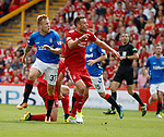 05.08.18 Aberdeen v Rangers: Scott McKenna tackles Scott Arfield and tears his hamstring