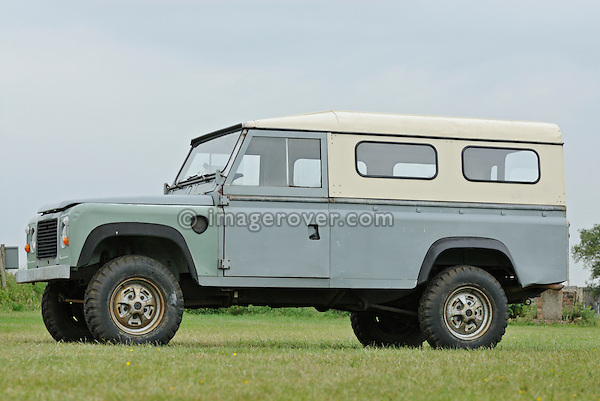 Green wings: Land Rover Defender 110 prototype. Dunsfold Collection Open Day 2009. NO RELEASES AVAILABLE.