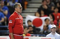 Minora Ueda, Japan Coach, MARCH 06, 2016 - Tennis :  Minora Ueda, Japan Coachduring the Davis Cup by PNB Paribas , World Group first round fourth rubber between Great Britain and Japan at The Barclaycard Arena, Birmingham, United Kingdom. (Photo by Rob Munro/AFLO)