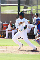 Yordy Cabrera - Oakland Athletics - 2010 Instructional League.Photo by:  Bill Mitchell/Four Seam Images..