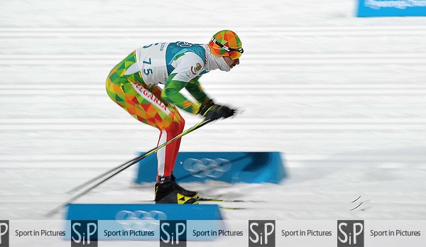 Yordan Chuchuganov (BUL). Mens sprint classic qualification. Cross country skiing. Alpensia Croos-Country skiing centre. Pyeongchang2018 winter Olympics. Alpensia. Republic of Korea. 13/02/2018. ~ MANDATORY CREDIT Garry Bowden/SIPPA - NO UNAUTHORISED USE - +44 7837 394578