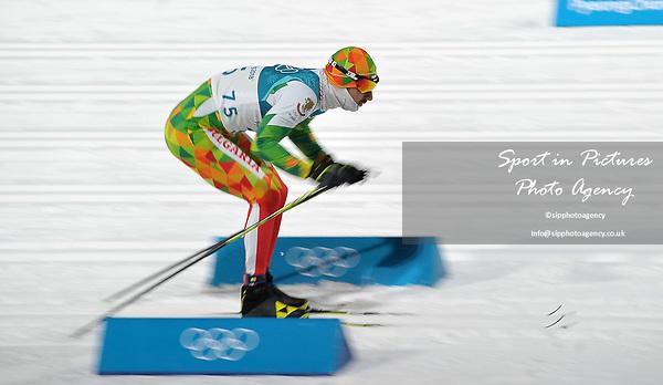 Yordan Chuchuganov (BUL). Mens sprint classic qualification. Cross country skiing. Alpensia Croos-Country skiing centre. Pyeongchang2018 winter Olympics. Alpensia. Republic of Korea. 13/02/2018. ~ MANDATORY CREDIT Garry Bowden/SIPPA - NO UNAUTHORISED USE - +44 7837 394578