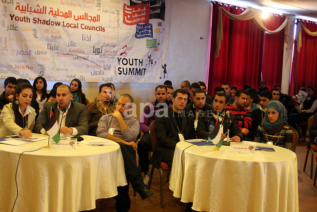 "Palestinian Prime Minister Salam Fayyad, participates in the ""Palestinian Youth Summit"" in the West Bank city of Ramallah, March 07, 2012.  Photo by Issam Rimawi"