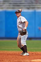 Lehigh Mountain Hawks second baseman Mike Garzillo (2) warmup throw to first during a game against the Dartmouth Big Green on March 20, 2016 at Chain of Lakes Stadium in Winter Haven, Florida.  Dartmouth defeated Lehigh 5-4.  (Mike Janes/Four Seam Images)