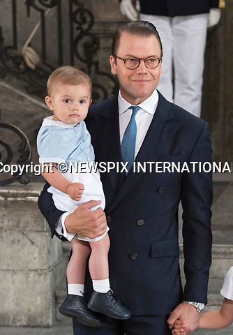 14.07.2017; Stockholm Sweden: CROWN PRINCE DANIEL AND PRINCE OSCAR <br /> attend the church service to celebrate Crown Princess Victoria&rsquo;s 40th Birthday at the Royal Chapel in Stockholm<br /> Mandatory Photo Credit: &copy;Francis Dias/NEWSPIX INTERNATIONAL<br /> <br /> IMMEDIATE CONFIRMATION OF USAGE REQUIRED:<br /> Newspix International, 31 Chinnery Hill, Bishop's Stortford, ENGLAND CM23 3PS<br /> Tel:+441279 324672  ; Fax: +441279656877<br /> Mobile:  07775681153<br /> e-mail: info@newspixinternational.co.uk<br /> Usage Implies Acceptance of Our Terms &amp; Conditions<br /> Please refer to usage terms. All Fees Payable To Newspix International