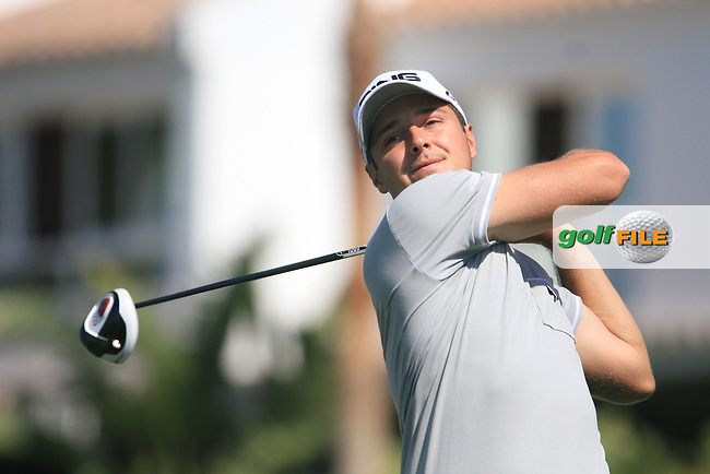 Julien Quesne (FRA) on the 1st tee on Day 3 of the 2012 Open de Andalucia Costa del Sol at Aloha Golf Club, Marbella, Spain...(Photo Jenny Matthews/www.golffile.ie)