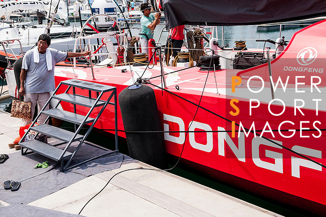 Dongfeng VOR65 sails prior to delivery to Auckland on Hainan waters ahead the 2014/15 Volvo Ocean Race on March 20 2014 in Sanya, China. Photo by Xaume Olleros / Power Sport Images