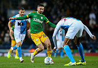 Preston North End's Sean Maguire takes on Blackburn Rovers' Tosin Adarabioyo<br /> <br /> Photographer Alex Dodd/CameraSport<br /> <br /> The EFL Sky Bet Championship - Blackburn Rovers v Preston North End - Saturday 11th January 2020 - Ewood Park - Blackburn<br /> <br /> World Copyright © 2020 CameraSport. All rights reserved. 43 Linden Ave. Countesthorpe. Leicester. England. LE8 5PG - Tel: +44 (0) 116 277 4147 - admin@camerasport.com - www.camerasport.com