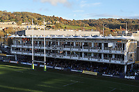 A general view of the IPL Stand at the Recreation Ground. LV= Cup match, between Bath Rugby and the Newport Gwent Dragons on November 10, 2012 at the Recreation Ground in Bath, England. Photo by: Patrick Khachfe / Onside Images