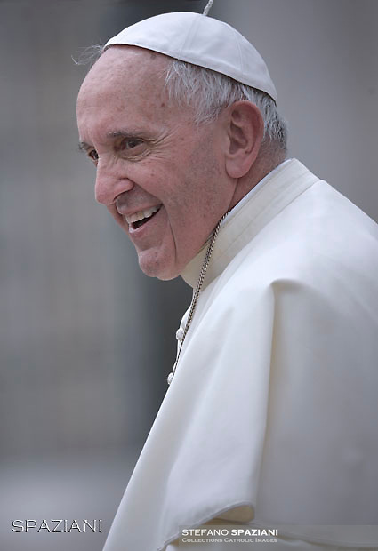 Pope Francis  during his weekly general audience in St. Peter square at the Vatican, Wednesday.May 18 2016.