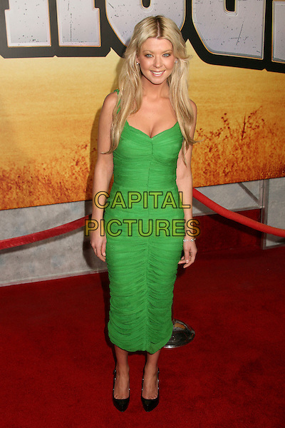 "TARA REID.""Wild Hogs"" Los Angeles Premiere at the El Capitan Theatre, Hollywood, California, USA..February 27th, 2007.full length green ruched dress.CAP/ADM/BP.©Byron Purvis/AdMedia/Capital Pictures"