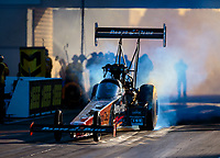 Jun 1, 2018; Joliet, IL, USA; NHRA top fuel driver Clay Millican during qualifying for the Route 66 Nationals at Route 66 Raceway. Mandatory Credit: Mark J. Rebilas-USA TODAY Sports