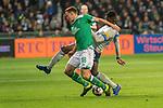 08.03.2019, Weser Stadion, Bremen, GER, 1.FBL, Werder Bremen vs FC Schalke 04, <br /> <br /> DFL REGULATIONS PROHIBIT ANY USE OF PHOTOGRAPHS AS IMAGE SEQUENCES AND/OR QUASI-VIDEO.<br /> <br />  im Bild<br /> <br /> Niklas Moisander (Werder Bremen #18)<br /> Breel Embolo (FC Schalke 04 #36)<br /> <br /> Foto &copy; nordphoto / Kokenge