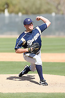 Caleb Thielbar, Milwaukee Brewers 2010 minor league spring training..Photo by:  Bill Mitchell/Four Seam Images.