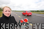 ANGRY: Ieva Kokina,.Tralee was left.shocked and angry.after a hit and run.accident when travelling.from Farranfore to.Tralee on Friday night.