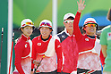 (L-R) Kaori Kawanaka, Saori Nagamine, Yuki Hayashi (JPN),<br /> AUGUST 7 2016 - Archery : <br /> Women's teaml final Round <br /> at Sambodromo <br /> during the Rio 2016 Olympic Games in Rio de Janeiro, Brazil. <br /> (Photo by Yusuke Nakanishi/AFLO SPORT)