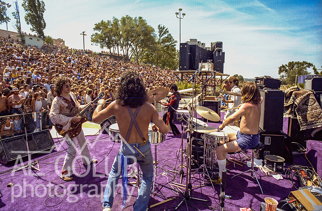 Third annual Mountain Aire Renaissance Fair and Musical festival produced by Rock'n Chair Productions.  On stage is Nils Lofgren on June 13, 1976 at the Calaveras County Fairground near Angle Camp California.  Photo by Al Golub