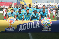 MONTERIA - COLOMBIA, 15-09-2019: Jugadores de Jaguares posan para una foto previo al partido por la fecha 11 de la Liga Águila II 2019 entre Jaguares de Córdoba F.C. y América de Cali jugado en el estadio Jaraguay de la ciudad de Montería. / Players of Jaguares pose to a photo prior the match for the date 11 as part Aguila League II 2019 between Jaguares de Cordoba F.C. and America de Cali played at Jaraguay stadium in Monteria city. Photo: VizzorImage / Cont