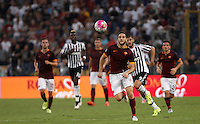 Calcio, Serie A: Roma vs Juventus. Roma, stadio Olimpico, 30 agosto 2015.<br /> Roma&rsquo;s Kostas Manolas in action during the Italian Serie A football match between Roma and Juventus at Rome's Olympic stadium, 30 August 2015.<br /> UPDATE IMAGES PRESS/Isabella Bonotto