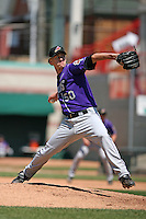 May 31, 2009:  Pitcher Erik Stiller of the Akron Aeros delivers a pitch during a game at Jerry Uht Park in Erie, NY.  The Aeros are the Eastern League Double-A affiliate of the Cleveland Indians.  Photo by:  Mike Janes/Four Seam Images