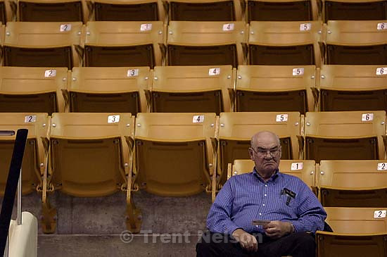 BYU basketball fan at the Varisty Preview Saturday night.&amp;#xA;. 11/03/2001, 6:57:22 PM<br />