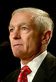 United States Army General (retired) and former Supreme Allied Commander, Europe (SACEUR) Wesley Clark, a candidate for the Democratic Party's 2008 Presidential nomination, speaks at the 2007 Democratic National Committee Winter Meeting in Washington, D.C. on Friday, February 2, 2007..Credit: Ron Sachs / CNP