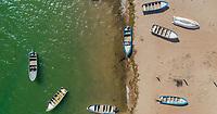 botes de pesca a la orilla de la playa.<br /> Fishing boats on the shore of the beach.<br /> <br /> Aerial view of the community of Punta Chueca where the population of the Seri ethnic group lives. Punta Chueca, Socaaix in the Seri language, is a locality in the Mexican state of Sonora. It is located about 20 kilometers north of the town of Bahía de Kino being a port in the Gulf of California, Punta Chueca is the point of the mainland closest to Isla Tiburón, from which it is separated only by the Estrecho del Infiernillo.<br /> <br /> (Photo: Luis Gutierrez)<br /> <br /> <br /> Vista aérea de la comunidad de Punta Chueca donde vive la población de la etnia Seri.  Punta Chueca, Socaaix en idioma seri, es una localidad del estado mexicano de Sonora.  Se encuentra a unos 20 kilómetros al norte de la población de Bahía de Kino siendo un puerto en el Golfo de California, Punta Chueca es el punto de tierra firme más cercano a la Isla Tiburón, de la que la separa únicamente el Estrecho del Infiernillo.<br /> <br /> (Photo:Luis Gutierrez)
