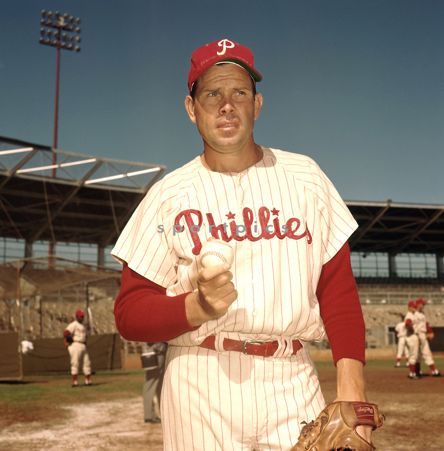Philadelphia Philles Robin Roberts (36) portrait from his 1961 season with the Philadelphia Philles. Robin Roberts played for 19 years with 4 different teams. Robin Roberts was a 7-time All-Star and was inducted to the Baseball Hall of Fame in 1976.