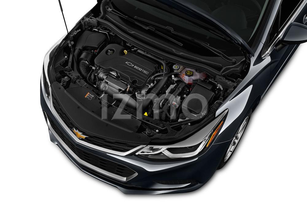 Car Stock 2017 Chevrolet Cruze LT 5 Door Hatchback Engine  high angle detail view