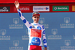 Luis Angel Mate Mardones (ESP) Cofidis retains the Polka Dot Jersey at the end of Stage 7 of the La Vuelta 2018, running 185.7km from Puerto Lumbreras to Pozo Alc&oacute;n, Spain. 31st August 2018.<br /> Picture: Unipublic/Photogomezsport | Cyclefile<br /> <br /> <br /> All photos usage must carry mandatory copyright credit (&copy; Cyclefile | Unipublic/Photogomezsport)