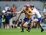 John Conlon of Clare  in action against Colm Roche of Waterford during their Munster  championship round robin game at Cusack Park Photograph by John Kelly.