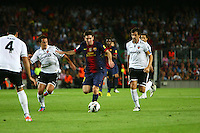 02.09.2012 SPAIN -  La Liga 12/13 Matchday 3th  match played between F.C. Barcelona vs Valencia C.F. (1-0) at Nou Camp stadium. The picture show Lionel Andres Messi (Argentine forward of Barcelona)