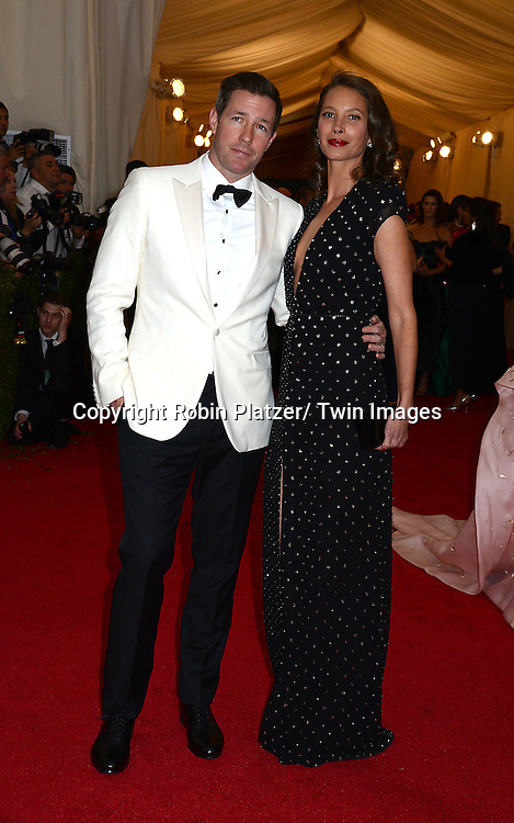 Ed Burns and Christy Turlington Burns attend the Costume Institute Benefit on May 5, 2014 at the Metropolitan Museum of Art in New York City, NY, USA. The gala celebrated the opening of Charles James: Beyond Fashion and the new Anna Wintour Costume Center.