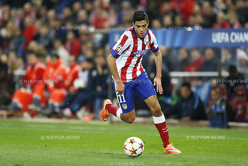 Raul Gimenez (Atletico), NOVEMBER 26, 2014 - Football / Soccer : UEFA Champions League Group A match between Club Atletico de Madrid 4-0 Olympiacos FC at the Vicente Calderon Stadium in Madrid, Spain. (Photo by Mutsu Kawamori/AFLO) [3604]