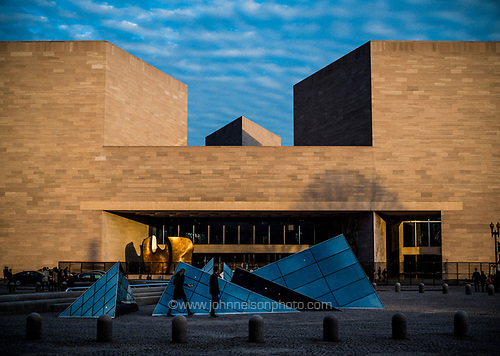 The I.M. Pei-designed National Gallery of Art East Building, Washington, DC