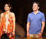 Annie Parisse & Jeremy Shamos.during the Broadway Opening Night Performance Curtain Call for 'Clybourne Park' at the Walter Kerr Theatre in New York City on 4/19/2012
