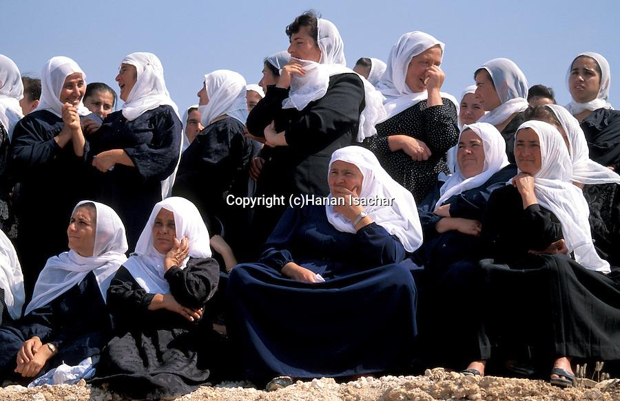 Israel, Galilee, Druze women in Julis