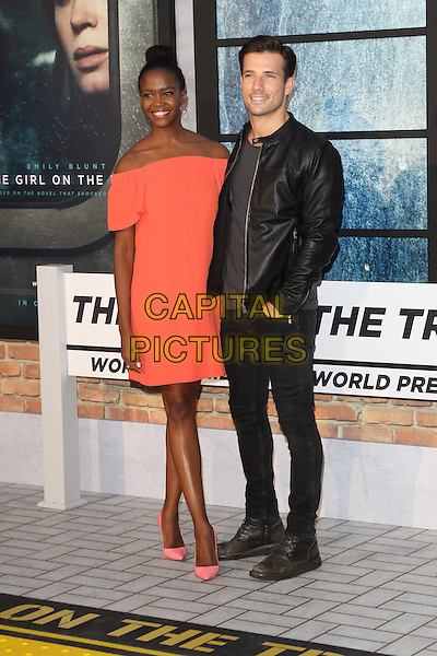 Oti Mabuse and Danny Mac at The Girl on the Train - world film premiere at the Odeon Leicester Square. London on September 20th 2016<br /> CAP/ROS<br /> &copy;Steve Ross/Capital Pictures