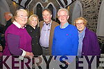 Enjoying the music, song & poetry of Sigerson Clifford at the Old Oratory Cahersiveen on Saturday night last were l-r; Rosaleen, Ruth & Con McCarthy with Gerry Enright & Ester Maheswaran.