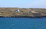 Houses on Hare Island, Roaringwater Bay, County Cork, Ireland, Irish Republic