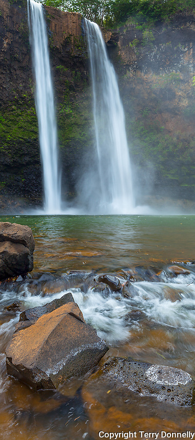 Kauai, HI: Wailua Falls on the South Fork of the Wailua River