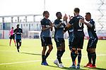 09.07.2019: St Joseph's v Rangers: Connor Goldson  celebrates after he taps in Borna Barisic's free kick