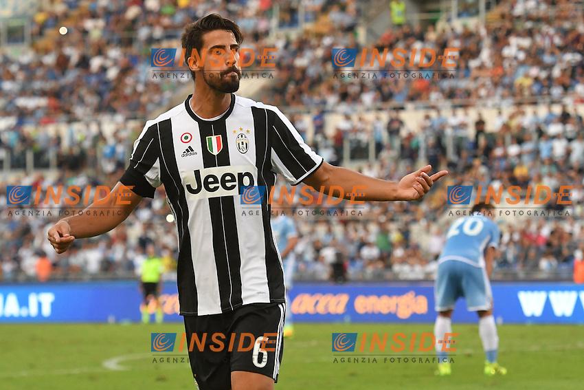 Esultanza Gol Sami KHEDIRA Juventus Goal celebration 1-0 <br /> Roma 27-08-2016  Stadio Olimpico<br /> Campionato Serie A, Lazio - Juventus <br /> Foto Andrea Staccioli / Insidefoto